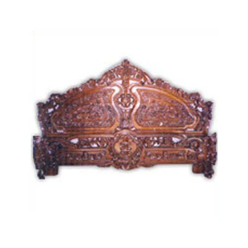 Wooden Handicraft Carved Wooden Bed Exporter From Saharanpur