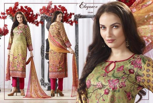 Fancy Pure Silk Pashmina Salwar Suit