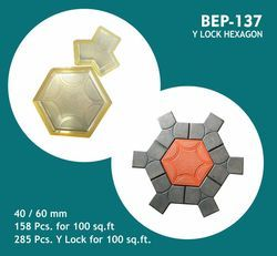 PVC Moulds for Hexagon Big with Y Lock