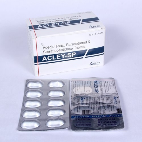 Aceclofenac, Paracetamol Tablets