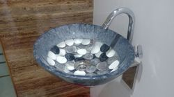 Prayosha Oval Grey Washbasin