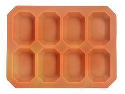 100gms - Octagonal - 8 Cavities - Silicone Soap Mold