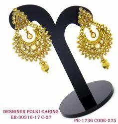 Polki Designer Earring