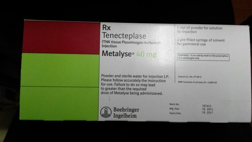 Cardiology Drugs Metalyse 40mg Inj Tenecteplase Wholesale