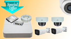 UNV 4 MP IP Cameras Kit