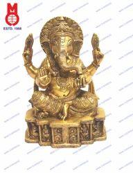 Ganesh Sitting W/ Lady on Base