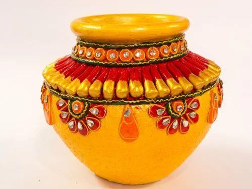 Roop Rachana Ceramic Hand Painted Pot Handicraft Items