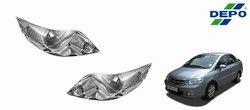depo car crystal headlight assembly set of 2 honda cit