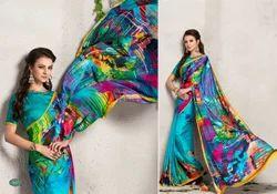 Indian Digital Printed Georgete Saree