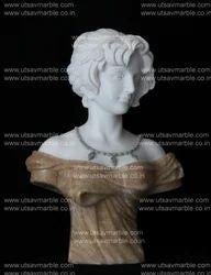 Marble Karara White and Honey Onex Combination Lady Bust