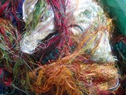 Multi Colored Sari Silk Fibre