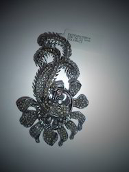 Scorpion Shaped Diamond Victorian Pendant