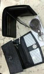 Ladies Gents Wallet KeyChain Set