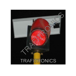 Solar Red Traffic Blinker