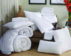 Cotton Pillow with Microfiber Filling