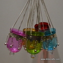 Glass Hanging T-Light Lantern