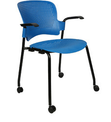 Institutional Training Chairs With Wheels And Armrest