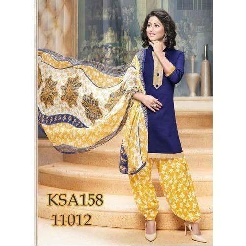 New Latest Blue and Multi Printed Patiyala Suit