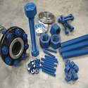 PTFE / Fluoropolymer/Fluorocarbon Coated Studs ,Bolts ,Nuts