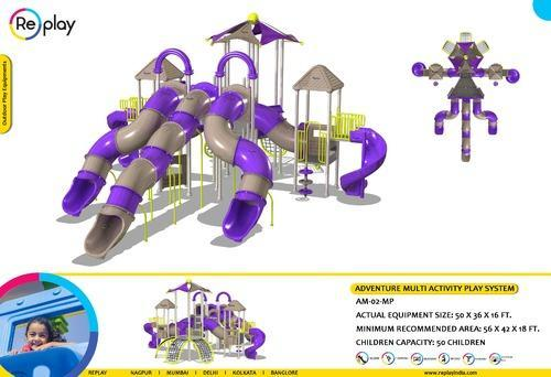 Playground Multi Play Slides