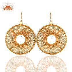 Handmade 925 Silver Wire Earrings