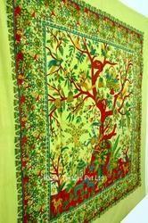 Tree Of Life Bedspread Wall Hanging/38 Sanganeri Fine Print