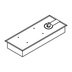 DORMA Floor Spring With 90 Hold Open Without Accessories