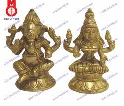 Lord Laxmi and Ganesh Sitting Statue