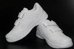 White Velcro School Shoes
