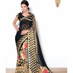 Cotton Black Saree