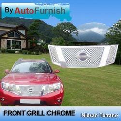 autofurnish front grill chrome for nissan terrano