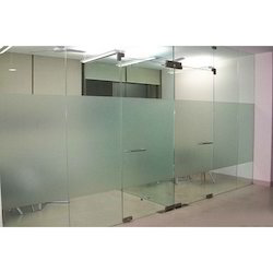 Office glass door Aluminium Office Glass Doors Galaxy Interior Exteriors Glass Partition With Patch Fittings Toughened Glass Door