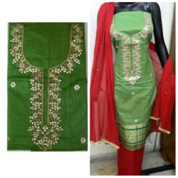 Party Wear Banarasi Gota Patti Suit
