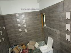 Bathroom Tiles In Chennai bathroom renovation contractor - water closet with glass partition