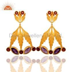 Garnet Gemstone Earring