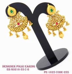 Antique Fancy Designer Polki Earring