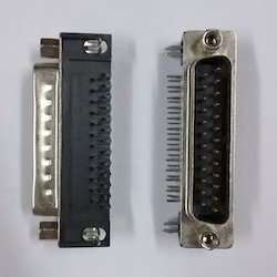 25- Pin- D Type- Male- Right- Ang Connector