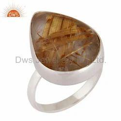 Rutilated Quartz Gemstone Ring