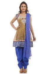 Chanderi Embroidery Suit Dupatta
