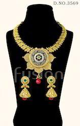 Antique Polki Necklace Set