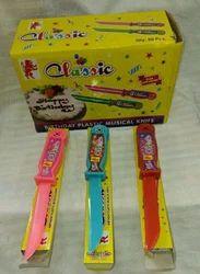 Plastic Musical Birthday Knife