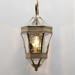 Antique Gold and Glass Wall Lights
