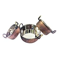 Smokey Finished Copper Steel Casserole Portion Dishes