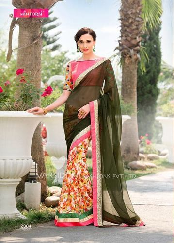 Fancy Floral Printed Saree