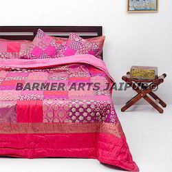 Bed Cover Brocade Patchwork
