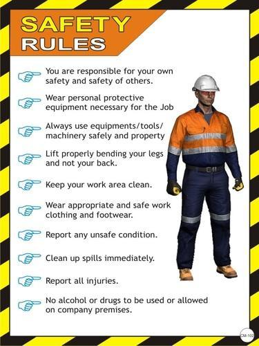 Nanotek Safety Rules Posters Cm 102 At Rs 1034 Pack