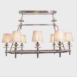 8 Arm Lamp Shade Chandelier