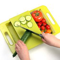 Kawachi 3 In 1 Kitchen Sink Cutting Board Removable Chopping