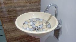 Prayosha Oval Ivery Ring Washbasin
