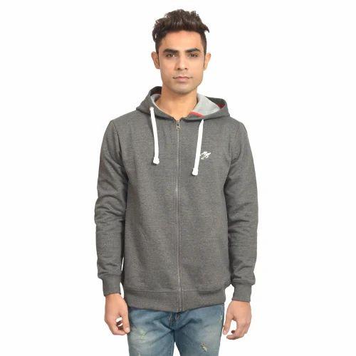 Dark Grey Zipper Hoodies